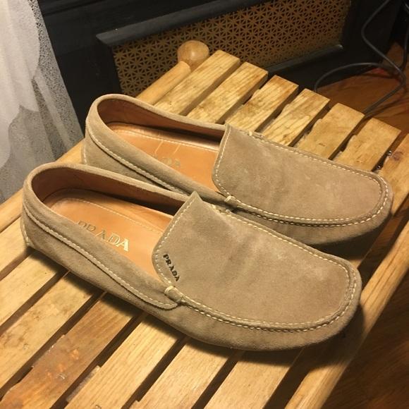 Prada Shoes   Prada Mens Suede Loafer